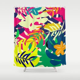 Tropical voyage Shower Curtain