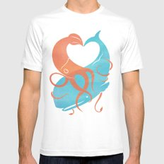 Hug It Out White Mens Fitted Tee MEDIUM