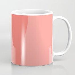 Wavy Living Coral Stripes Coffee Mug