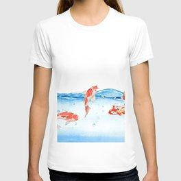 Happy koi fish- fishes sea water lake T-shirt