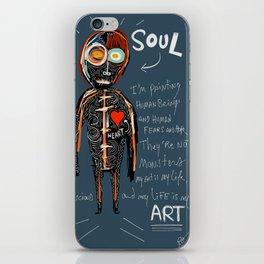 Heart and Soul street art graffiti art brut painting iPhone Skin