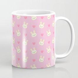Bunny Business Pink - Easter Hearts Coffee Mug