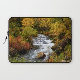 Spearfish Canyon - Creek Surrounded By Fall Color in Black Hills South Dakota Laptop Sleeve