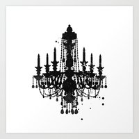 chandelier Art Prints featuring Chandelier by Steven Womack