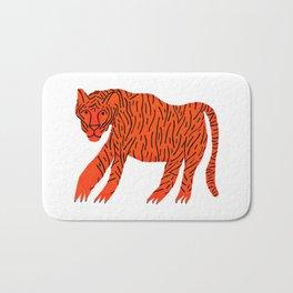 Mighty Orange Tiger Bath Mat