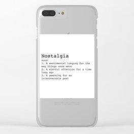 Nostalgia Clear iPhone Case