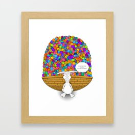 Easter Heavy Load TextBubble- by Rui Guerreiro Framed Art Print