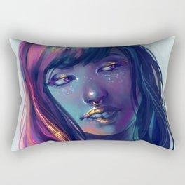 Neon Kiss Rectangular Pillow