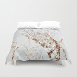 Gold Grey and White Sparkle Marble Duvet Cover