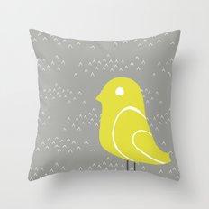 Bird on tussocks Throw Pillow