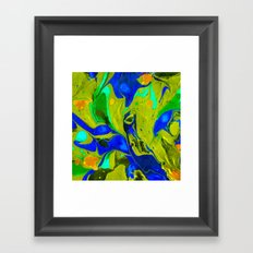 Green Flow Framed Art Print