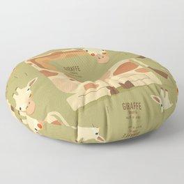 Giraffe, African Wildlife Floor Pillow
