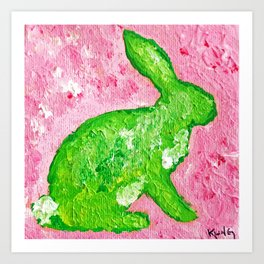 Palm Beach Rabbit Art Print