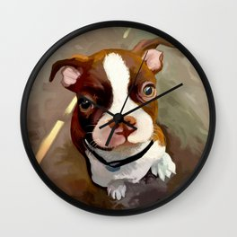 Puppypainting Wall Clock
