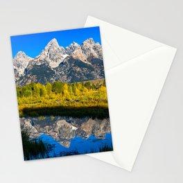 Grand Teton - Reflection at Schwabacher's Landing Stationery Cards