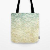 escher Tote Bags featuring escher pattern by Vin Zzep