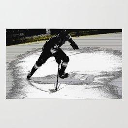 On the Move - Hockey Player Rug