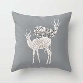 African Antelope Throw Pillow