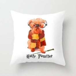 Hairy Pawtter Throw Pillow