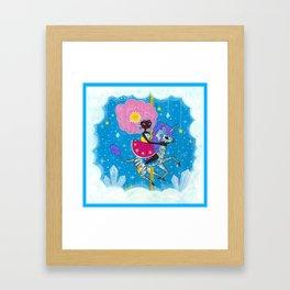 Sunshine and Sparkles -Crystal Cloud Carousel Framed Art Print