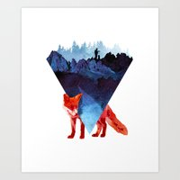 road Art Prints featuring Risky road by Robert Farkas