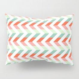 Chevron Raspberry and Peach - Geometric pattern  Pillow Sham