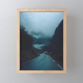The Road Darkens Framed Mini Art Print