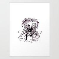 clown Art Prints featuring Clown. by sonigque