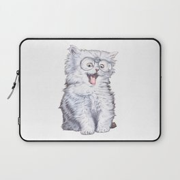 A cat with glasses Laptop Sleeve