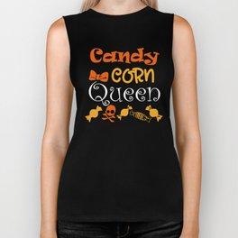 Halloween T-shirt/ Candy Corn Queen Biker Tank