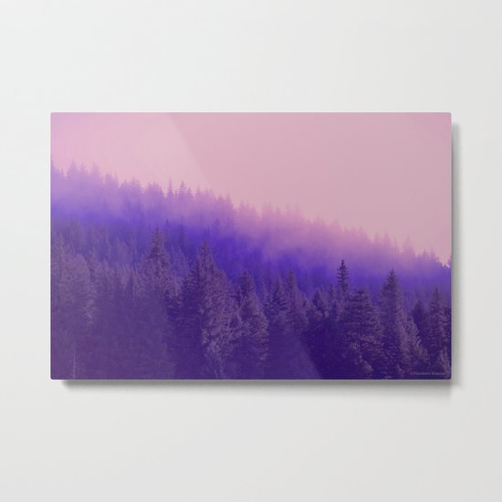 Rose Quartz Fog Metal Print