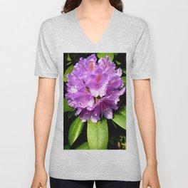 Garden Flower Purple Unisex V-Neck