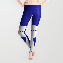 Starfish (White & Navy Blue) Leggings