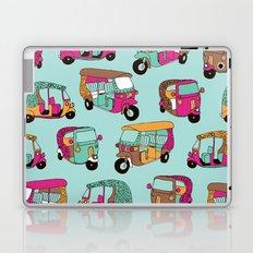 India rickshaw illustration pattern Laptop & iPad Skin