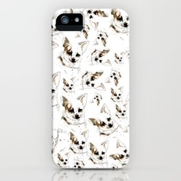 Chihuahua watercolor pattern iPhone Case