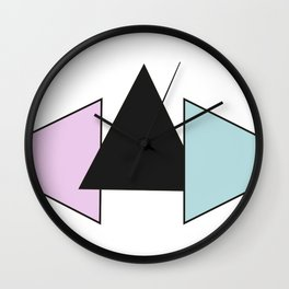 Three Triangles Wall Clock