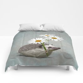 Hedgehog in love Comforters