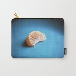 Orange On Blue Carry-All Pouch
