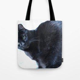 Simon the Black Halloween Sanctuary Cat Tote Bag