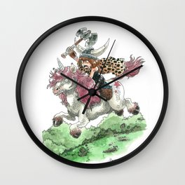 Barbarian Unicorn Wall Clock