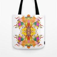 psych Tote Bags featuring Free Psych and Mirrors - Antonio Feliz by Marina Molares