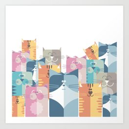 Too Many Cats? Art Print