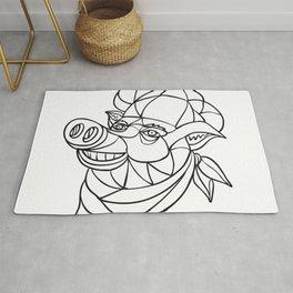 Pig Pork Baker Mosaic Color Rug