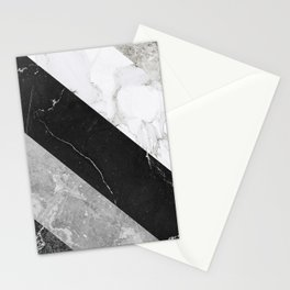 Contemporary Marble Stone Rays Stationery Cards