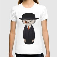 magritte T-shirts featuring omaggio a Magritte by beatrice alegiani