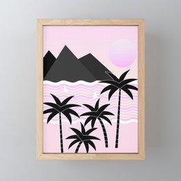 Hello Islands - Pink Skies Framed Mini Art Print