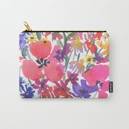 Little Pink Poppies Carry-All Pouch