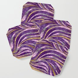 Amethyst and Fluorite Wavy Pattern Coaster