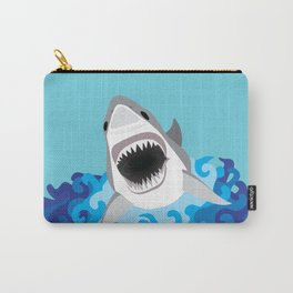 Great White Shark Attack Carry-All Pouch