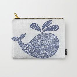 Whale Zentangle Carry-All Pouch